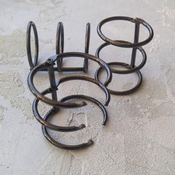 Кольцо тройное черного цвета 3см