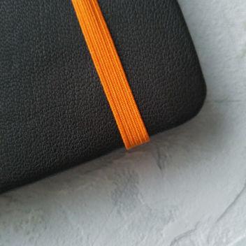 Резинка тонкая оранжевая для блокнотов
