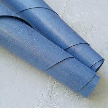 Глянцевый переплетный кожзам цвета синей лаванды