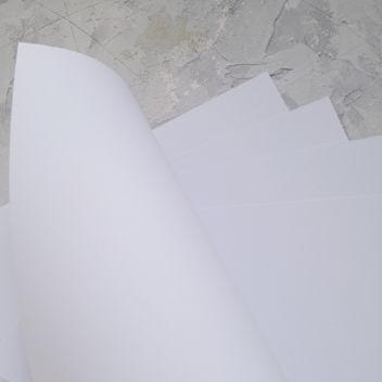 Матовый снежно-белый кардсток