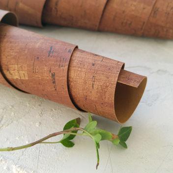 Кожзам переплетный под пробку коричневый
