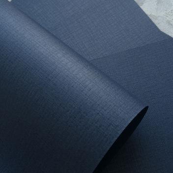 Бумага металлизированная с тиснением Холст Тёмно-синяя