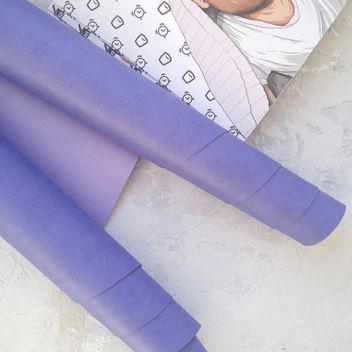 Светло-фиолетовый переплетный кожзаменитель
