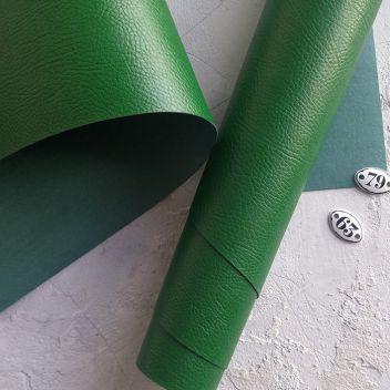 Ярко-зеленый кожзаменитель с тиснением под кожу