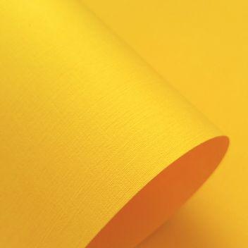 Бумага с тиснением Лён золотисто-желтая