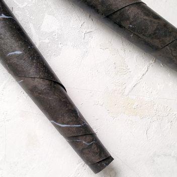 Кожзам переплетный под черный мрамор