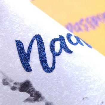 Темно-синяя сапфировая термотрансферная пленка с глиттером