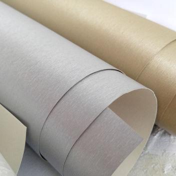 Переплетный бумажный материал Серебряный под шёлк