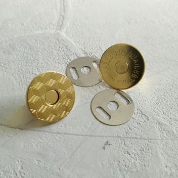 Тонкая магнитная застежка (золото)