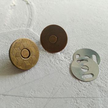Тонкая магнитная застежка (бронза)