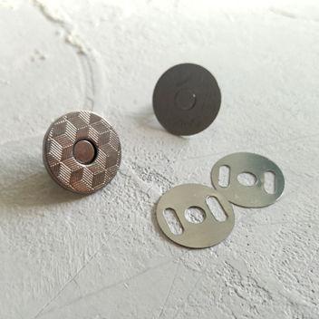 Тонкая магнитная застежка (темный никель)