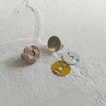 Тонкая магнитная застежка (серебро)