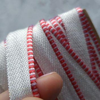 Каптал с глянцевой красно-белой кромкой 14мм