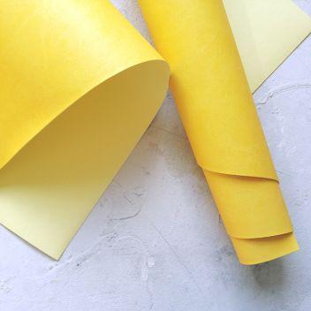 Жёлтый переплетный кожзаменитель