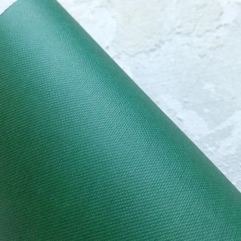 Бумага с тиснением Рогожка темно-зеленая