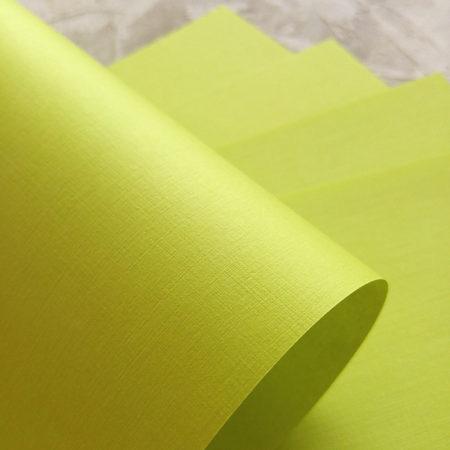 Бумага с тиснением под тонкий лен Фисташковый