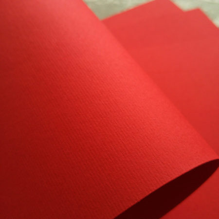 Кардсток с тиснением под фетр Красный