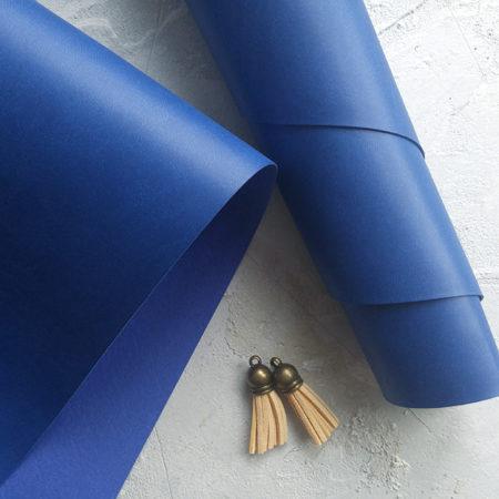 Синий переплетный кожзаменитель
