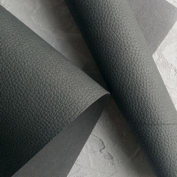 Тёмно-серый кожзаменитель с крупным тиснением под кожу