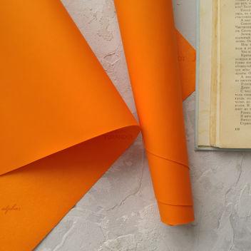 Переплетный кожзам с поверхностью ТАЧ апельсиновый