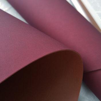 Бордовый переплетный кожзам под замшу