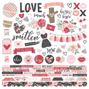 "Лист с наклейками Kissing Booth Cardstock Stickers 12""X12"""