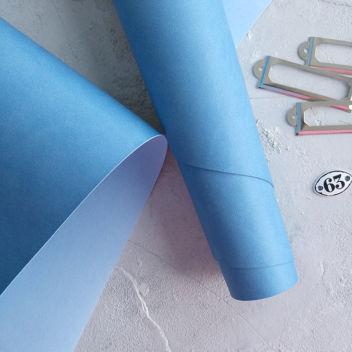 Голубой переплетный кожзаменитель