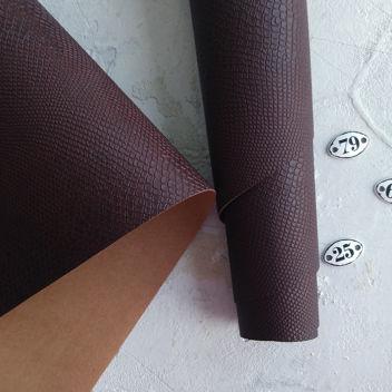 Шоколадно-коричневый кожзаменитель Питон