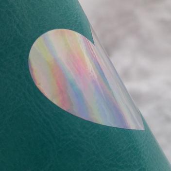 Радужная зеркальная термотрансферная пленка 25х25см (Южная Корея)