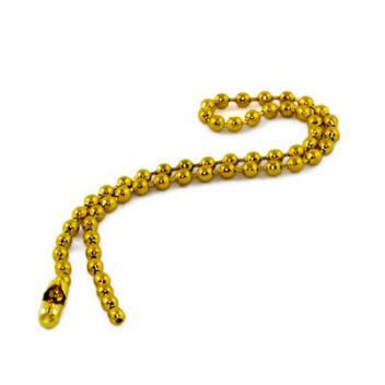 Цепочка шариковая с замком 20см золото