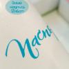 Ваша надпись на пленке Матовый ярко-голубой 12х6см