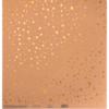 Бумага для скрапбукинга крафтовая с голографическим тиснением «Брызги золота», 30,5 × 32 см, 300 г/м