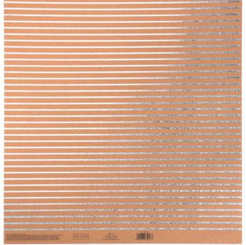 Бумага для скрапбукинга крафтовая с голографическим тиснением «Полосы», 30,5 × 32 см, 300 г/м