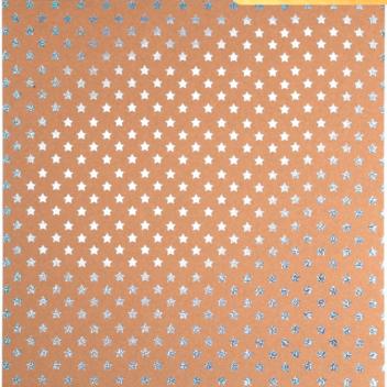 Бумага для скрапбукинга крафтовая с голографическим тиснением «Звёздное небо», 30,5 × 32 см, 300 г/м
