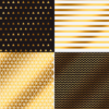 Бумага для скрапбукинга с фольгированием «Геометрия» 30.5×30.5см, 250г/м