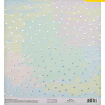 Бумага для скрапбукинга с голографическим фольгированием «Облачко», 20 × 21.5 см, 250 г/м