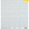 Бумага для скрапбукинга с голографическим фольгированием «Выше звёзд», 20 × 21.5 см, 250 г/м