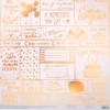Бумага для скрапбукинга жемчужная «С днем рождения!», 30,5 × 32 см, 250г/м
