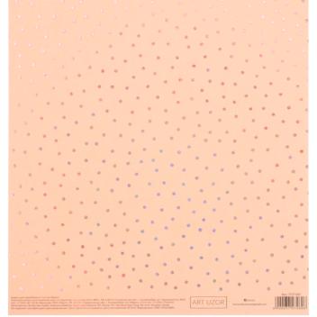 Бумага для скрапбукинга жемчужная с фольгированием «Мечты», 20 × 21.5 см, 250 г/м