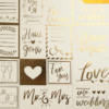 Бумага жемчужная с фольгированием «Наша свадьба», 30,5 х 30,5 см, 250 г/м