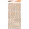 Чипборд‒алфавит на клеевой основе «Букет невесты», 14 × 27.5 см