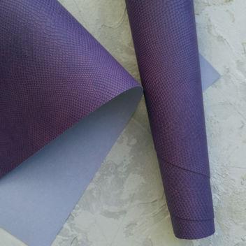 Пепельно-фиолетовый кожзаменитель Питон