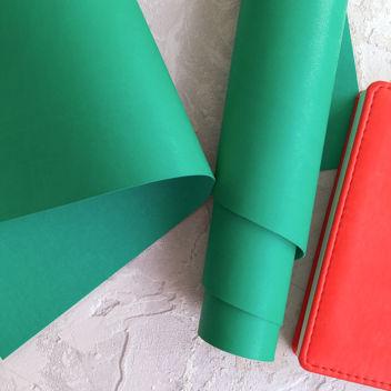 Изумрудно-зеленый переплетный кожзаменитель