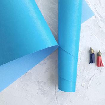 Ярко-голубой переплетный кожзаменитель
