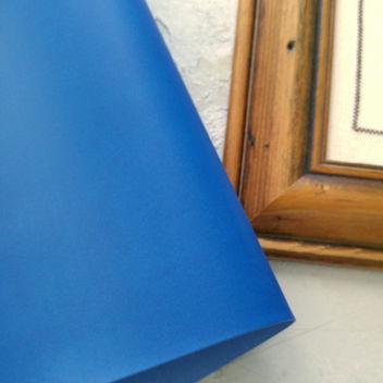 Сине-голубой переплетный кожзаменитель