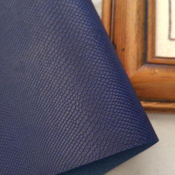 Темно-синий кожзаменитель Питон