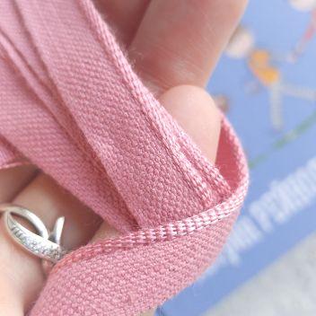 Каптал с глянцевой розовой кромкой 14мм 1м