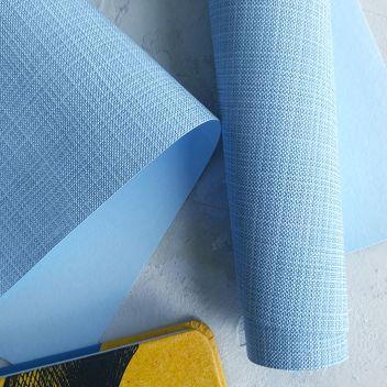 Кожзаменитель светло-голубой с тиснением под холст