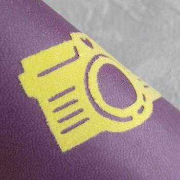 ФЛОКовый термотрансфер лимонный