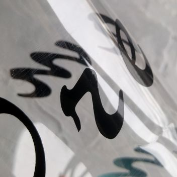 Глянцевая самоклеющаяся пленка Oracal Черный 25х25см